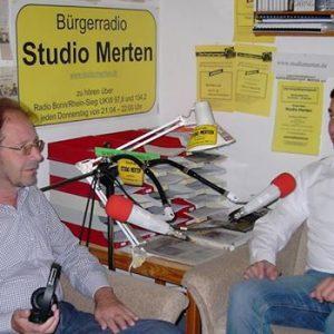 Im Interview beim Bürgerradio Studio Merten