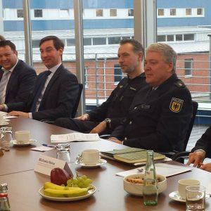Besuch der Bundespolizei in Sankt Augustin mit Martin Gerster, MdB